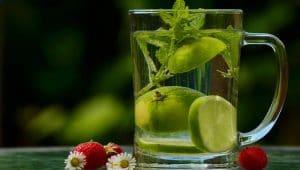 agua saborizada casera